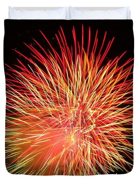 Fireworks  Duvet Cover by Michael Porchik