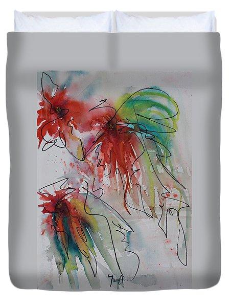 Fireworks Duvet Cover by Nancy Gebhardt