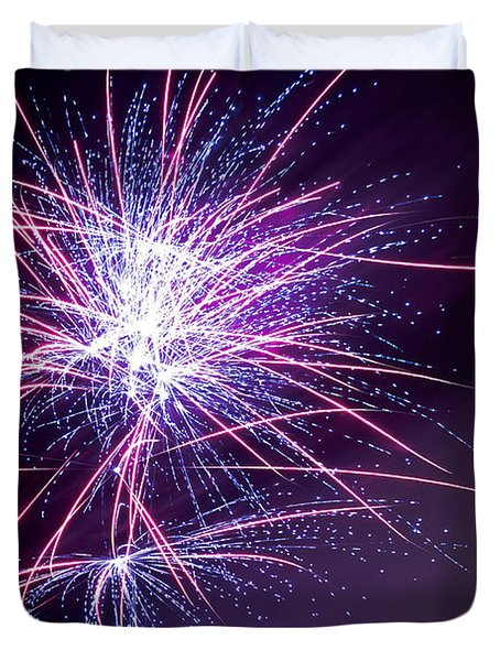 Fireworks - Purple Haze Duvet Cover