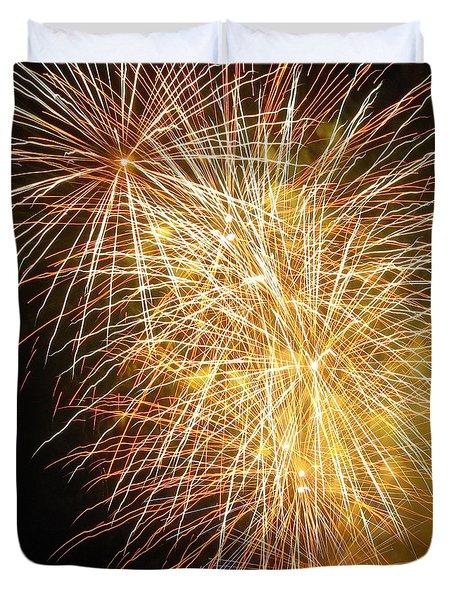 Fireworks Duvet Cover by Ramona Johnston