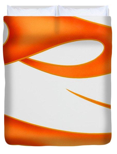 Duvet Cover featuring the photograph Firey Orange by Joe Kozlowski
