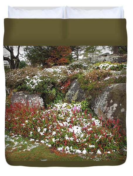 First Autumn Snow Duvet Cover