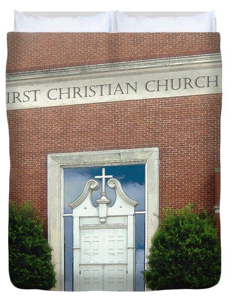 First Christian Church Duvet Cover