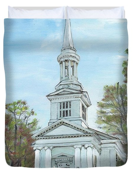 First Church Sandwich Ma Duvet Cover