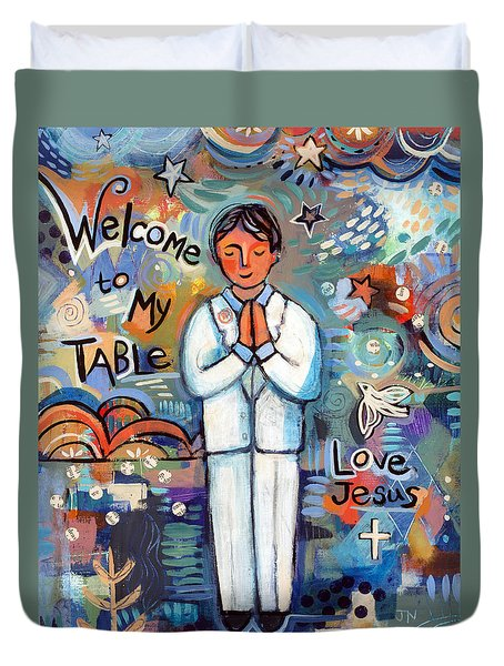 First Communion Boy Duvet Cover
