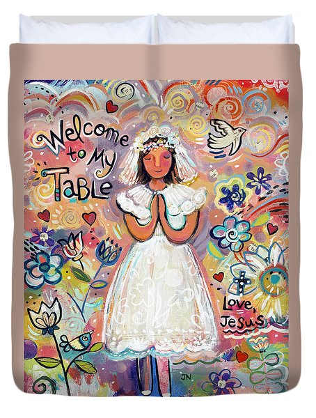 First Communion Girl Duvet Cover