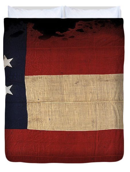 First Confederate Flag Duvet Cover by Daniel Hagerman