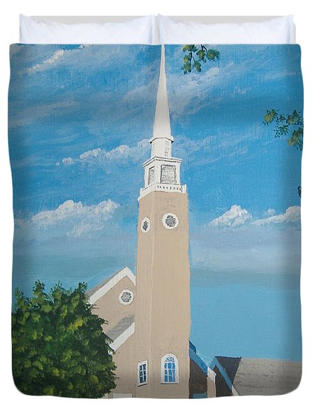 First Congregational Church Duvet Cover by Norm Starks