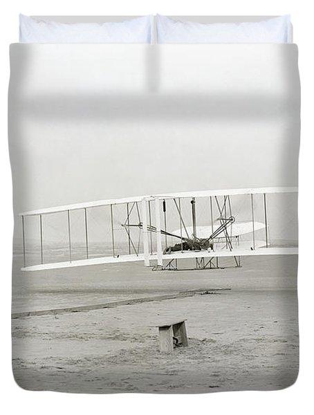 First Flight Captured On Glass Negative - 1903 Duvet Cover