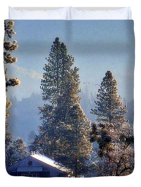 Duvet Cover featuring the photograph First Light by Julia Hassett