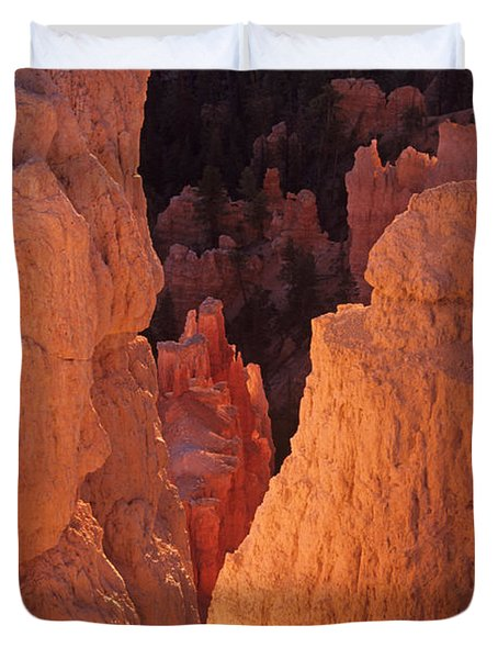First Light On Hoodoos Duvet Cover