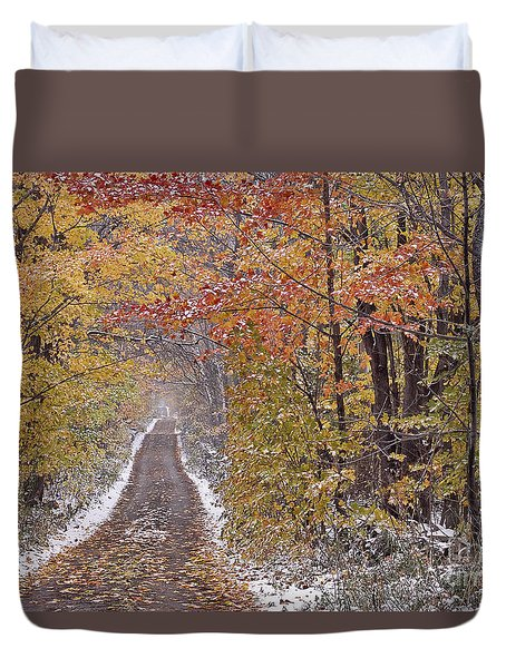 First Snow Duvet Cover by Alan L Graham