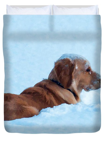 First Snow Bliss Duvet Cover by Bianca Nadeau