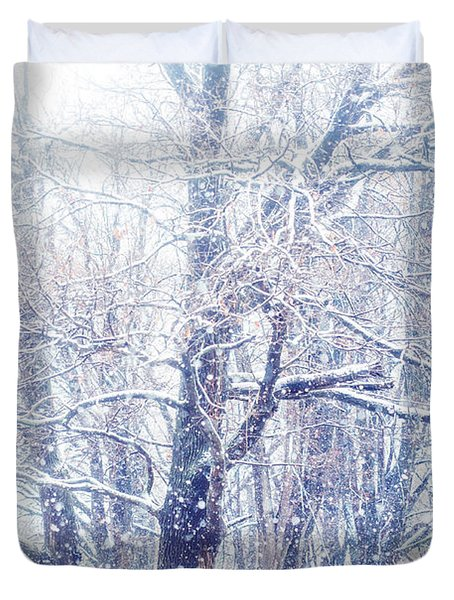 First Snow. Dreamy Wonderland Duvet Cover
