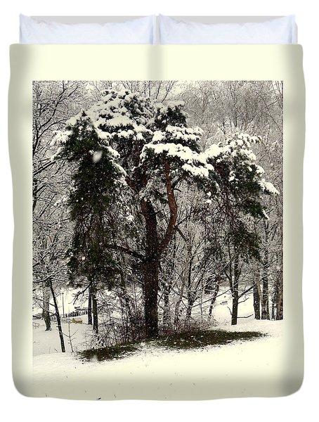 First Snow Duvet Cover by Henryk Gorecki
