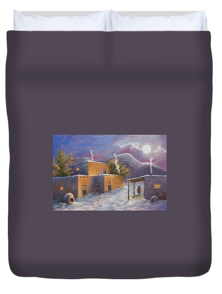First Snow Duvet Cover by Jerry McElroy