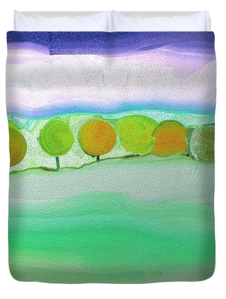 First Snow Duvet Cover by Lenore Senior