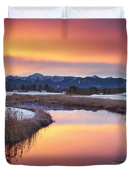 First Snow Duvet Cover by Michael Breitung