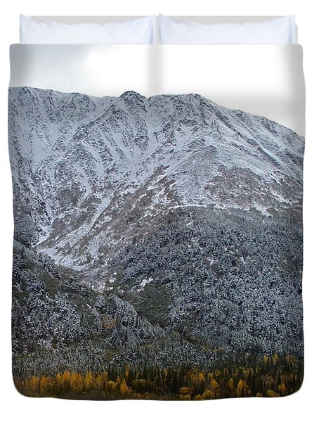 First Snow Duvet Cover by Rick  Monyahan
