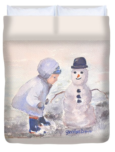 First Snowman Duvet Cover
