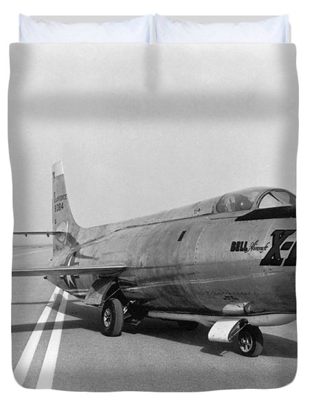 Duvet Cover featuring the photograph First Supersonic Aircraft, Bell X-1 by Science Source
