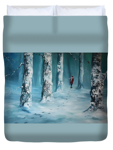 First Trodden Snows Duvet Cover
