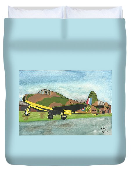 Duvet Cover featuring the painting Firstflight by John Williams