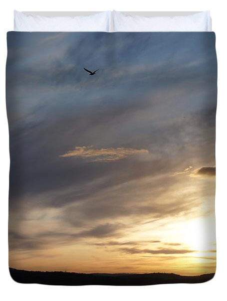 Firth Of Forth In The Sunset Duvet Cover