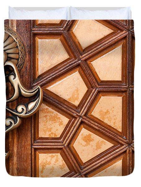 Firuz Aga Mosque Door 03 Duvet Cover
