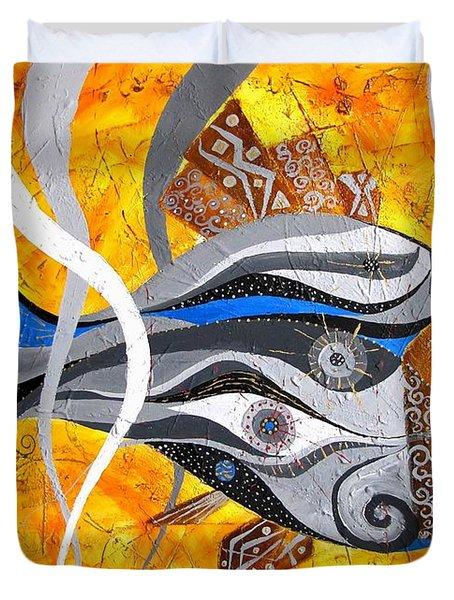 Fish 0465 - Marucii Duvet Cover by Marek Lutek