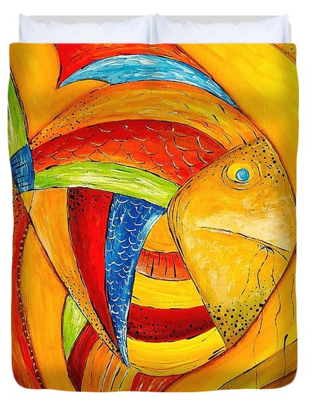 Fish 428-08-13 Marucii Duvet Cover