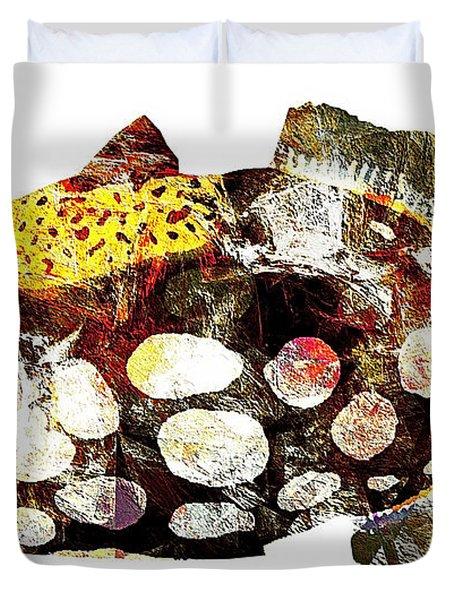 Fish 504-11-13 Marucii Duvet Cover by Marek Lutek