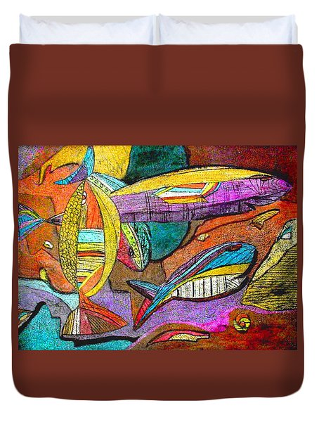 Fish And Chips Duvet Cover