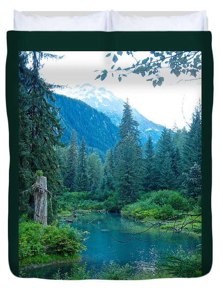 Fish Creek In Tongass National Forest By Hyder-ak  Duvet Cover