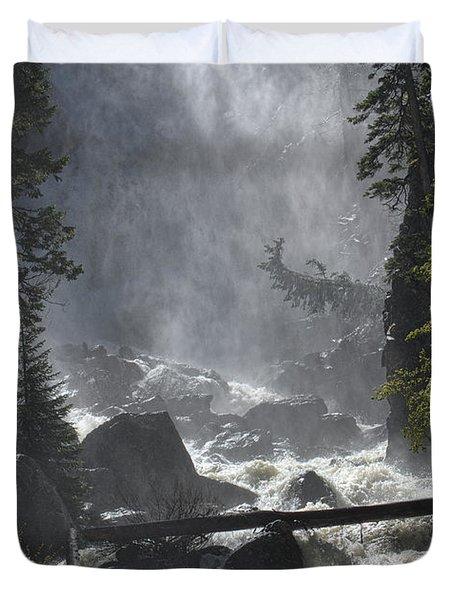 Fish Creek Mist Duvet Cover by Don Schwartz