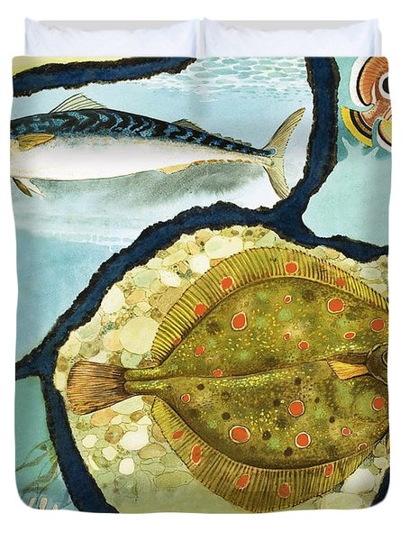 Fish Duvet Cover by English School