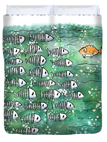 Fish School Reunion Duvet Cover