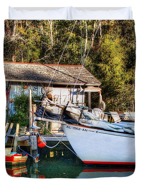 Fish Shack And Invictus Original Duvet Cover by Michael Thomas