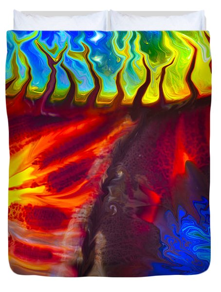 Fish Tales Duvet Cover by Omaste Witkowski