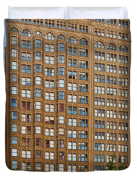 Fisher Building - A Neo-gothic Chicago Landmark Duvet Cover by Christine Till