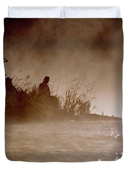 Fisher In The Mist Duvet Cover