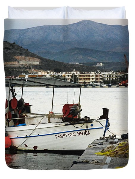 Fisherman And Son Duvet Cover