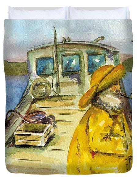 Fisherman Half Moon Bay Duvet Cover