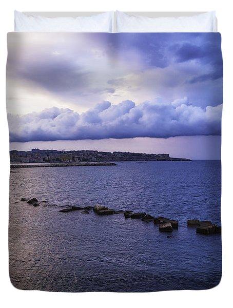 Fisherman - Sicily Duvet Cover by Madeline Ellis