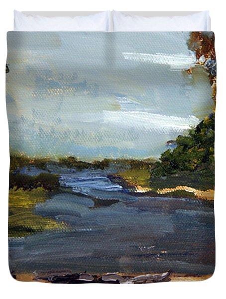 Fisherman's Landing Duvet Cover
