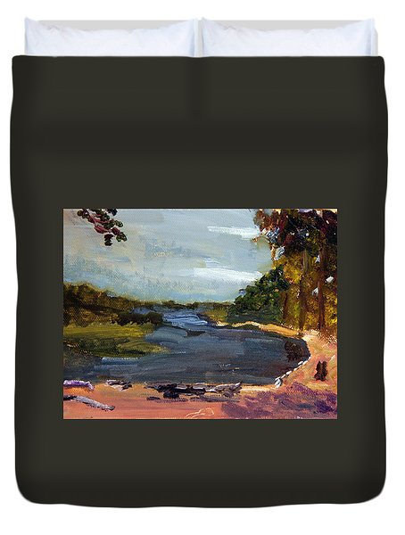 Fisherman's Landing Duvet Cover
