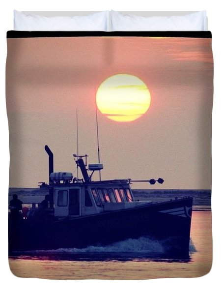 Fishermans Morning Duvet Cover