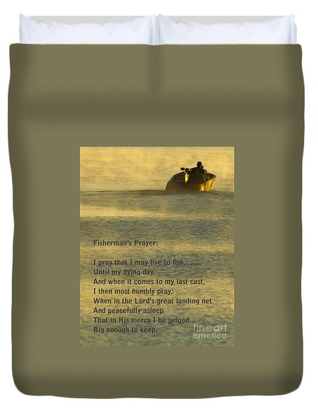 Fisherman's Prayer Duvet Cover by Robert Frederick