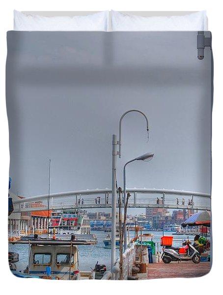 Fisherman's Wharf Taiwan Duvet Cover
