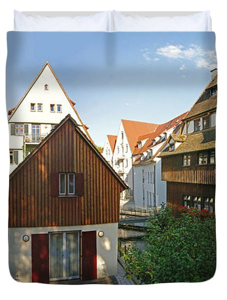 fishermens quarter in Ulm Duvet Cover by Rudi Prott